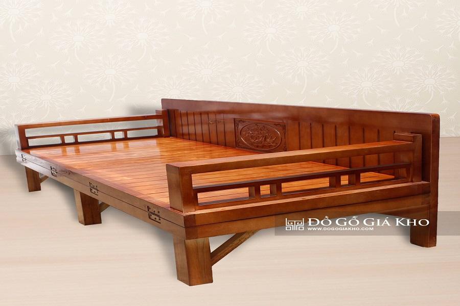 Giường gỗ xếp tiện lợi, thiết kế phù hợp với người cao tuổi