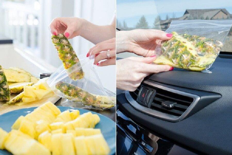 Sử dụng vỏ thơm để khử mùi hôi trên xe ô tô
