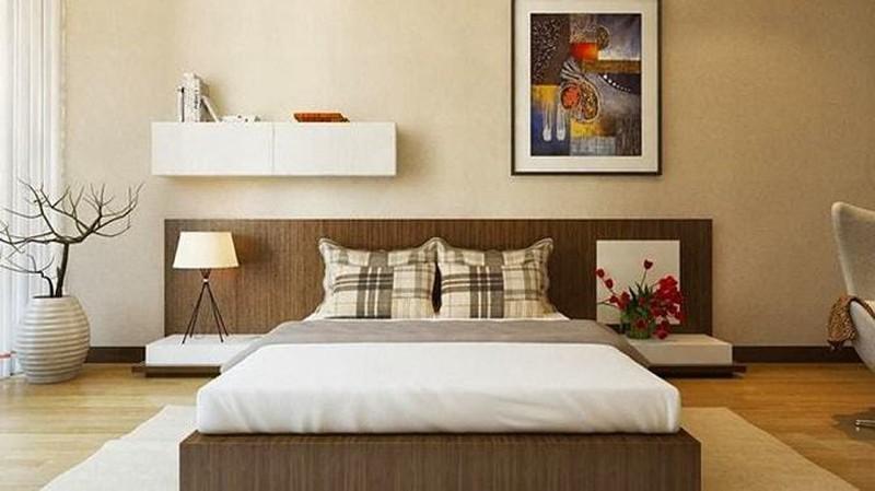 phòng ngủ phong thuỷ màu đất cho gia chủ mệnh thổ