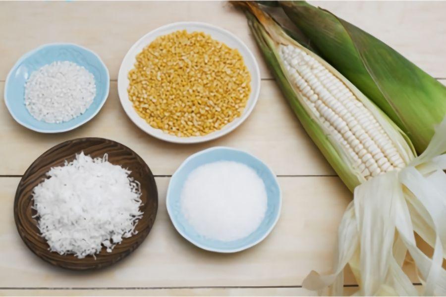 nguyên liệu nấu chè bắp đơn giản tại nhà