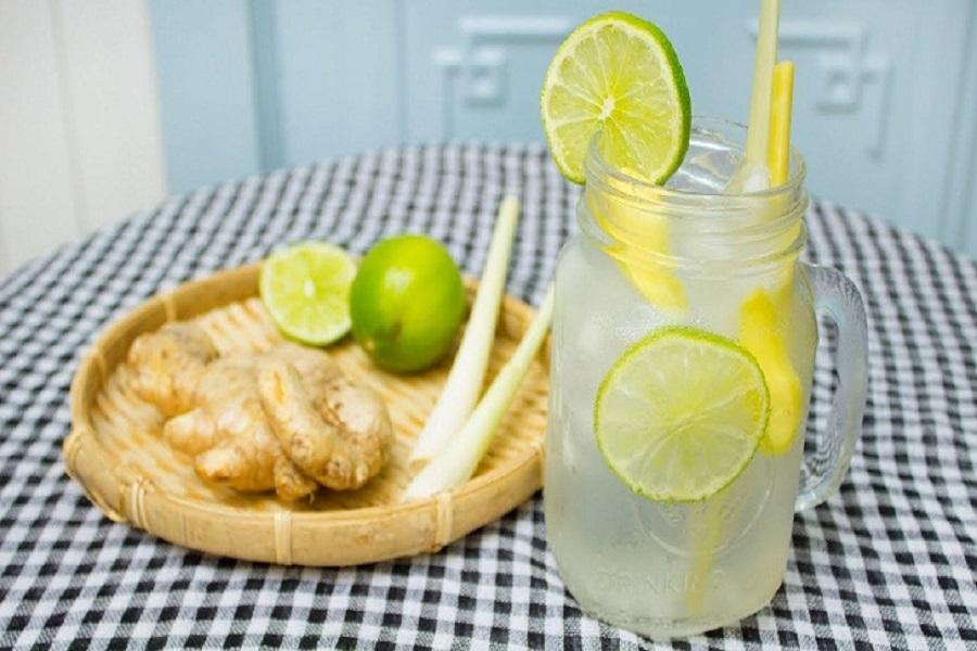 Sự kết hợp từ chanh, sả, gừng tạo ra loại nước uống có nhiều công dụng đối với sức khỏe