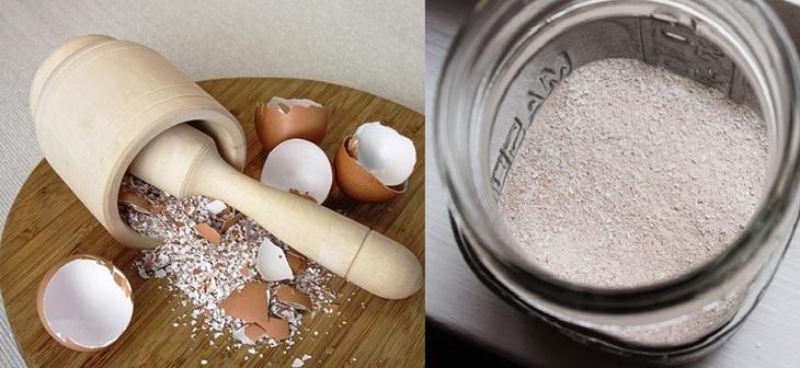Sử dụng vỏ trứng gà và baking soda để khử mùi