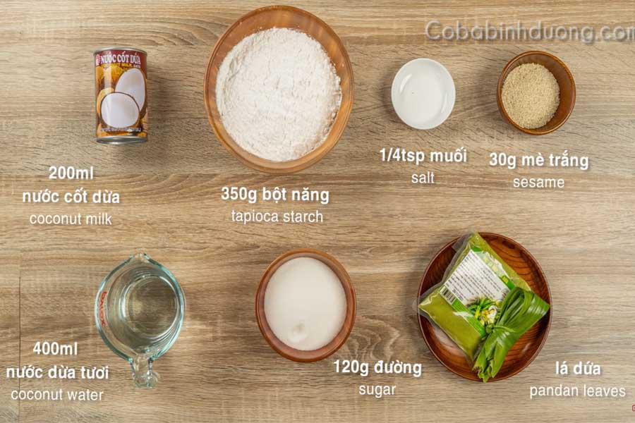Nguyên liệu nấu chè bột lọc
