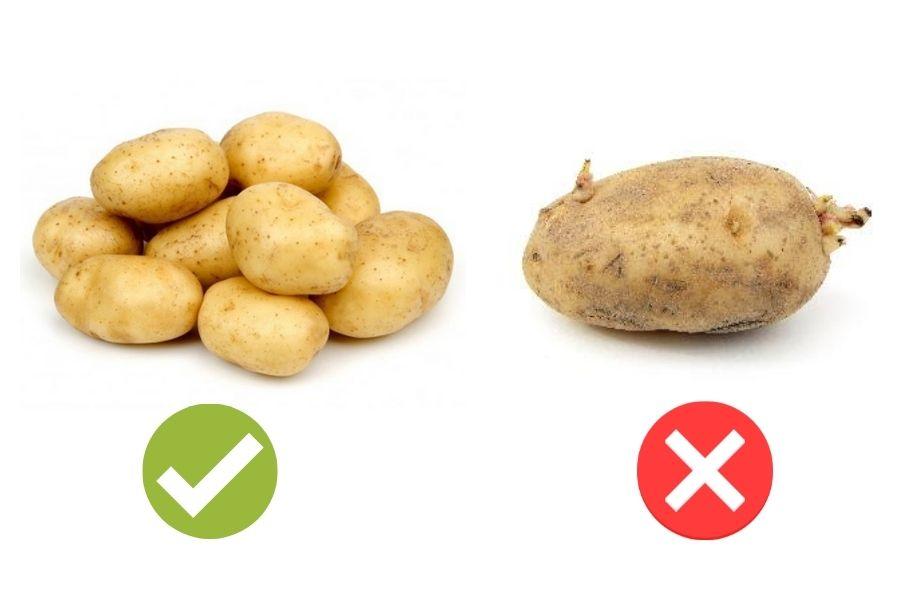 cách chọn khoai tây dựa vào hình dáng