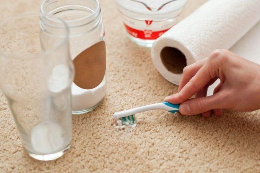cách vệ sinh thảm sợi tổng hợp