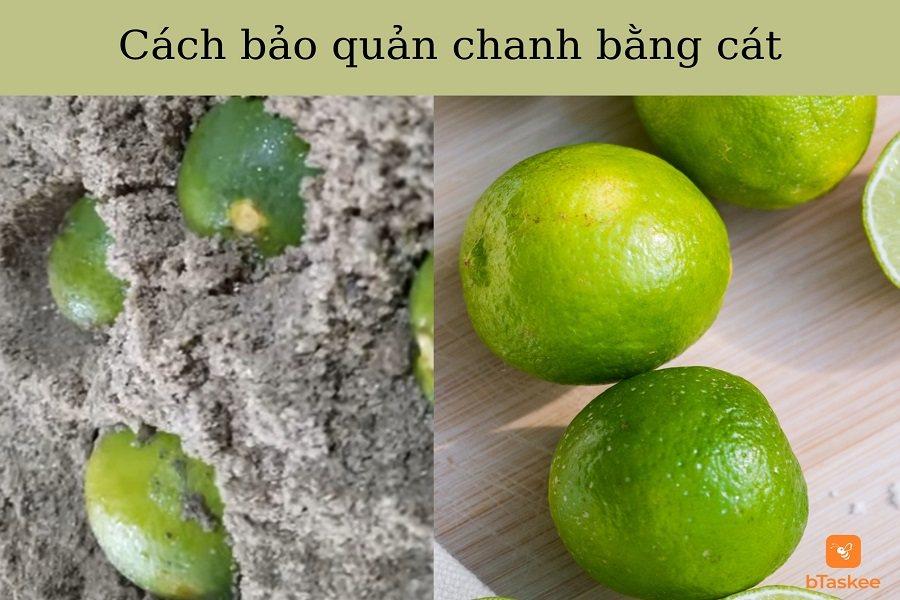 Cách bảo quản chanh tươi với cát để giữ độ ẩm cho quả chanh tươi lâu