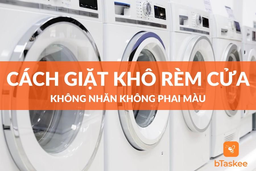 cách giặt khô rèm cửa không bị nhăn