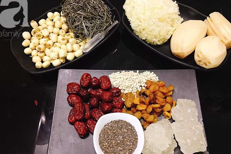 nguyên liệu nấu sâm bổ lượng