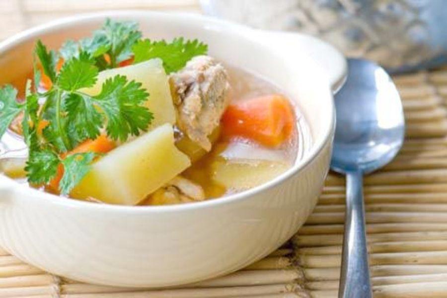 canh khoai tây sườn heo tốt cho sức khoẻ