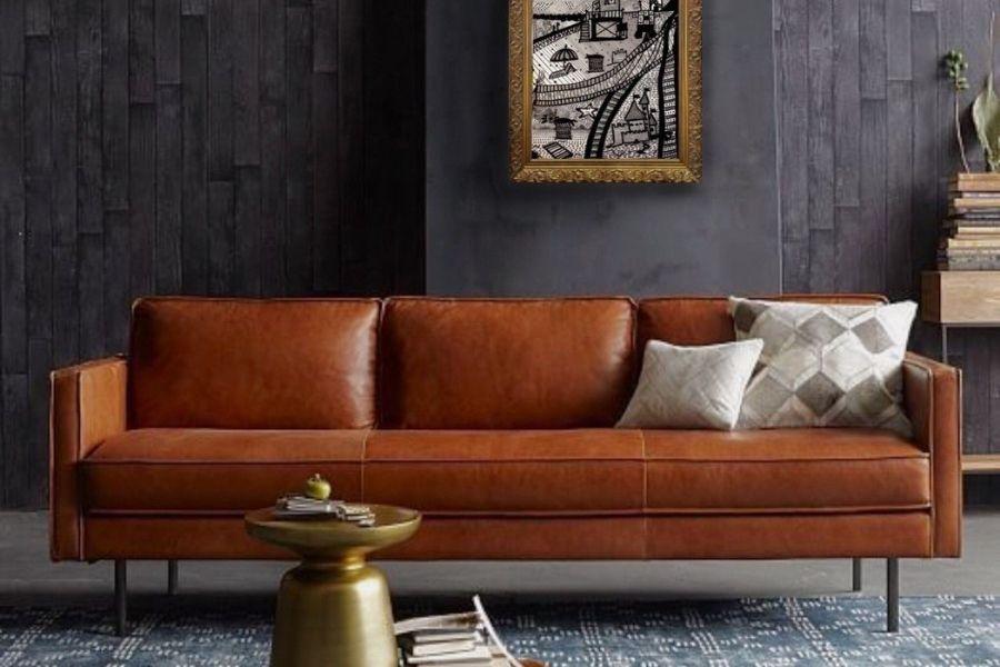 Ghế sofa da trang trí phòng khách