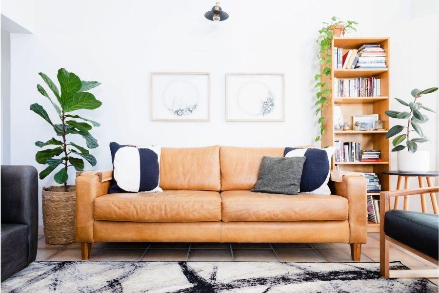 Ghế sofa da mang lại sự sang trọng hơn sofa vải nỉ
