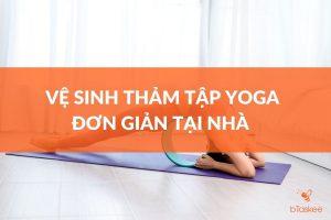 vệ sinh thảm yoga