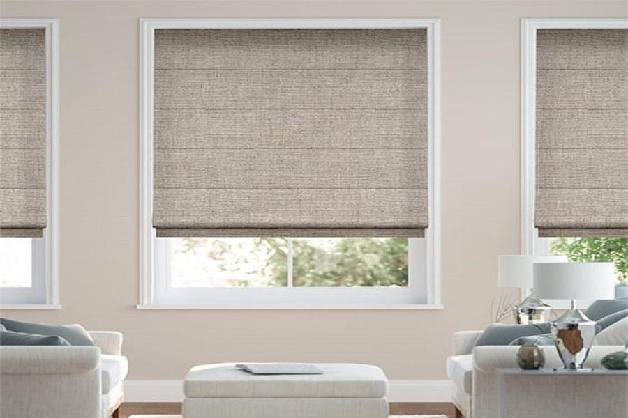 Rèm cửa roman có thiết kế xếp lớp. Cách giặt rèm roman tại nhà