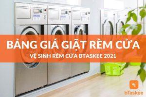 Bảng giá giặt rèm cửa 2021 tại bTaskee