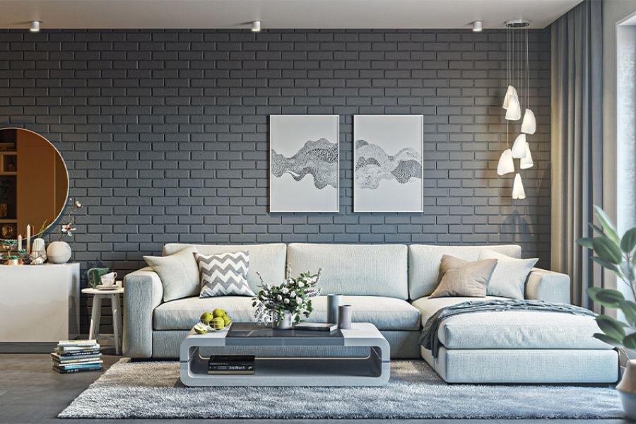 Cách bố trí sofa phòng khách theo hình chữ L