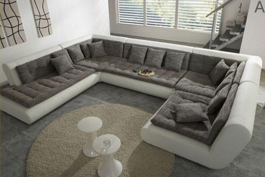 Cách bố trí sofa trong phòng khách theo hình chữ U