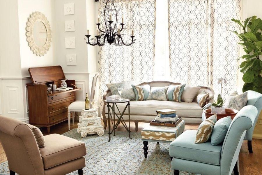 Cách bố trí sofa trong phòng khách kiểu quy tụ