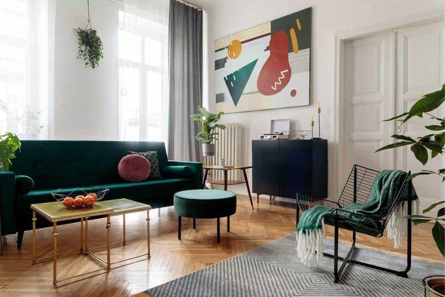 Bố trí sofa phòng khách tự do