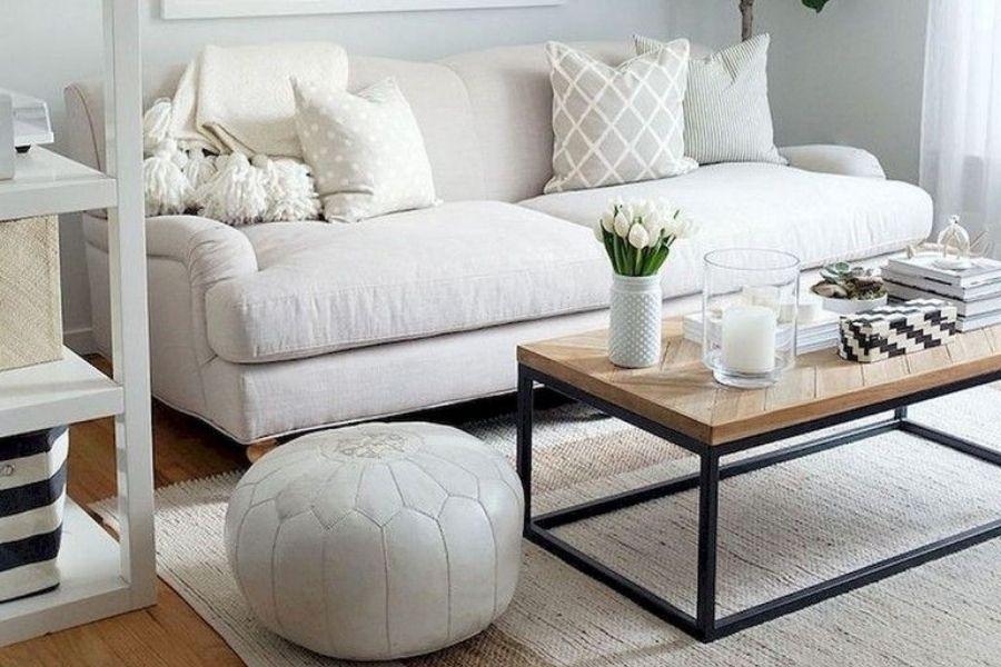 Cách bố trí sofa trong phòng khách nhỏ bằng sofa văng
