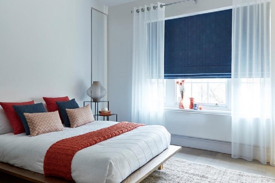 Chọn chất liệu vải rèm cửa phù hợp với từng phòng ngủ