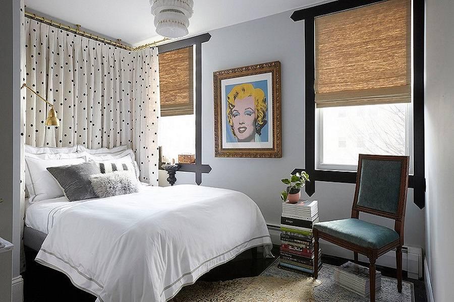 Các kiểu rèm cửa phù hợp với phòng ngủ nhỏ