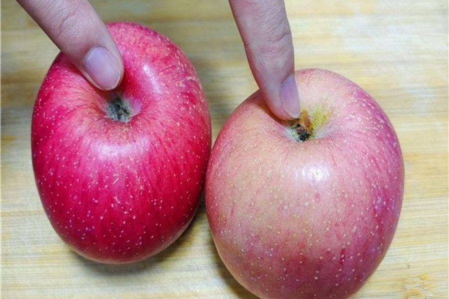 kích thước của quả táo ngon