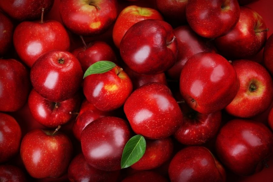 màu sắc của táo tươi ngon