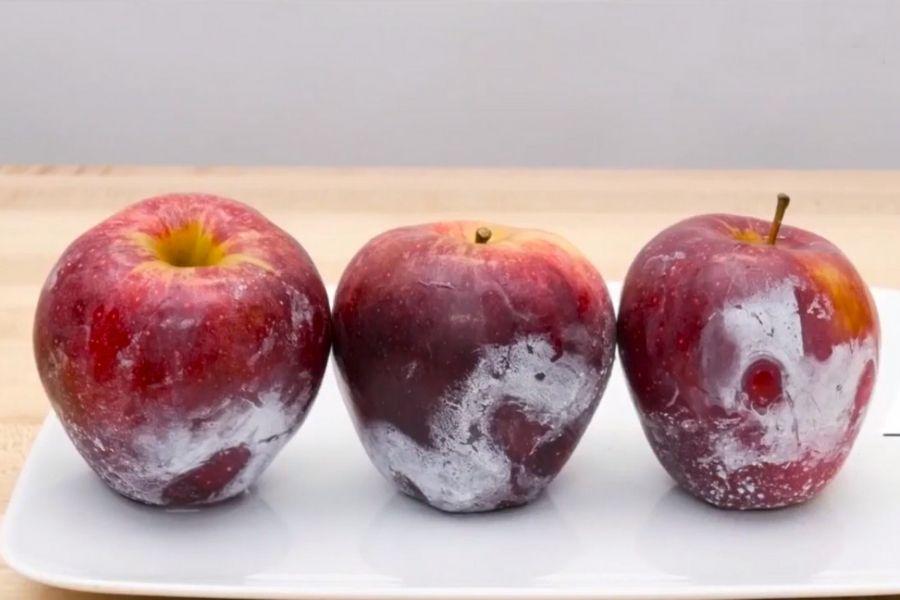 cách nhạn biết táo ngâm hóa chất
