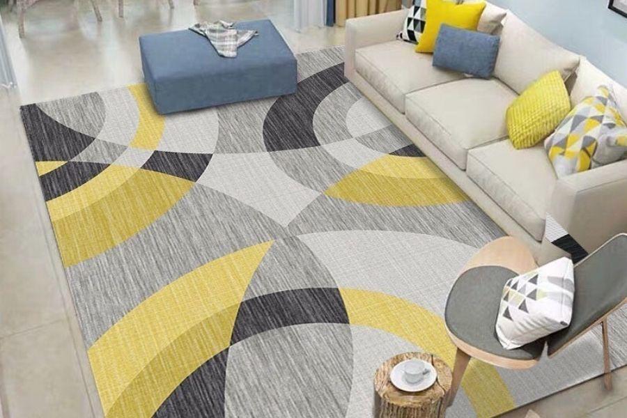 thảm có màu sắc tươi sáng