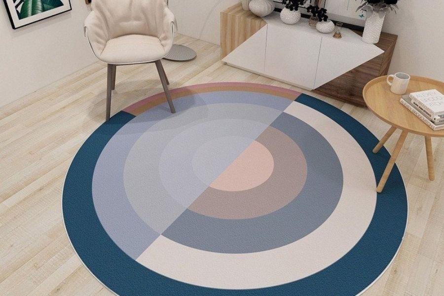 thảm trải sàn có kiểu dáng tròn