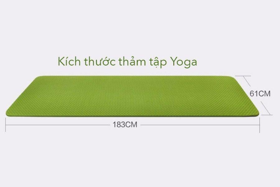 kích thước thảm tập yoga