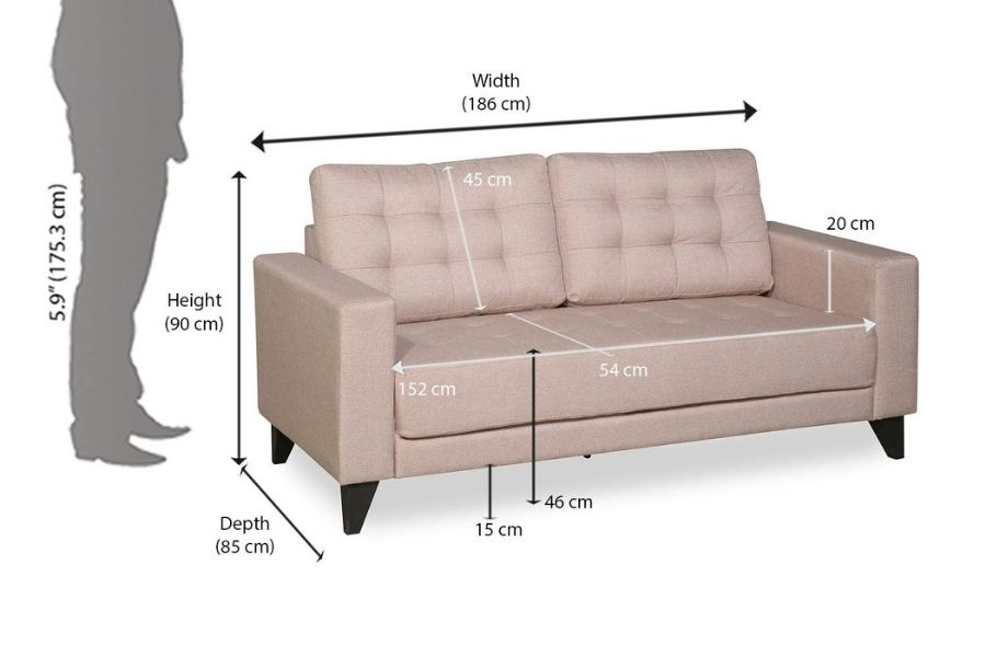 Chiều cao ghế sofa đôi chuẩn