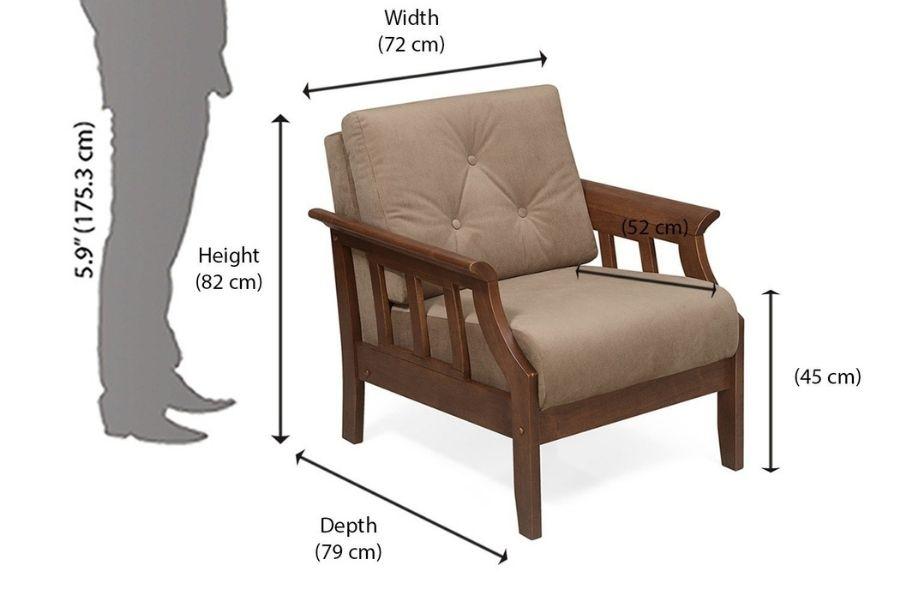 Chiều cao tiêu chuẩn của ghế sofa đơn