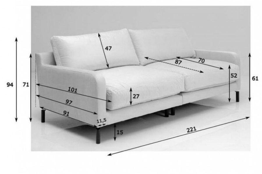 Chiều cao ghế sofa phù hợp với người Việt