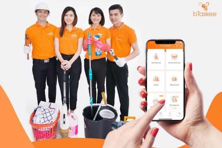 Dịch vụ giặt thảm trên ứng dụng bTaskee