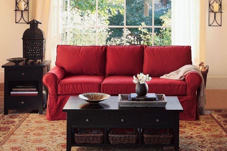 Ghế sofa màu đỏ phù hợp với người mệnh hỏa