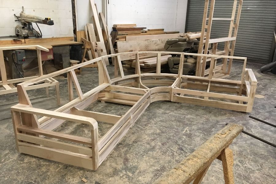 Cấu tạo khung ghế sofa bằng gỗ