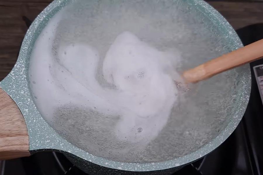 Nấu rau câu chè dừa dầm