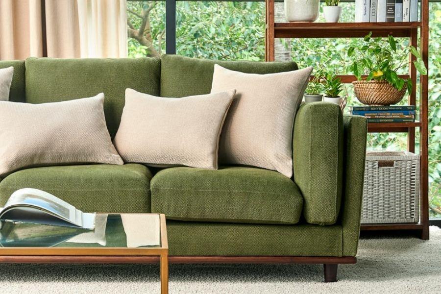 Ghế sofa màu xanh lá