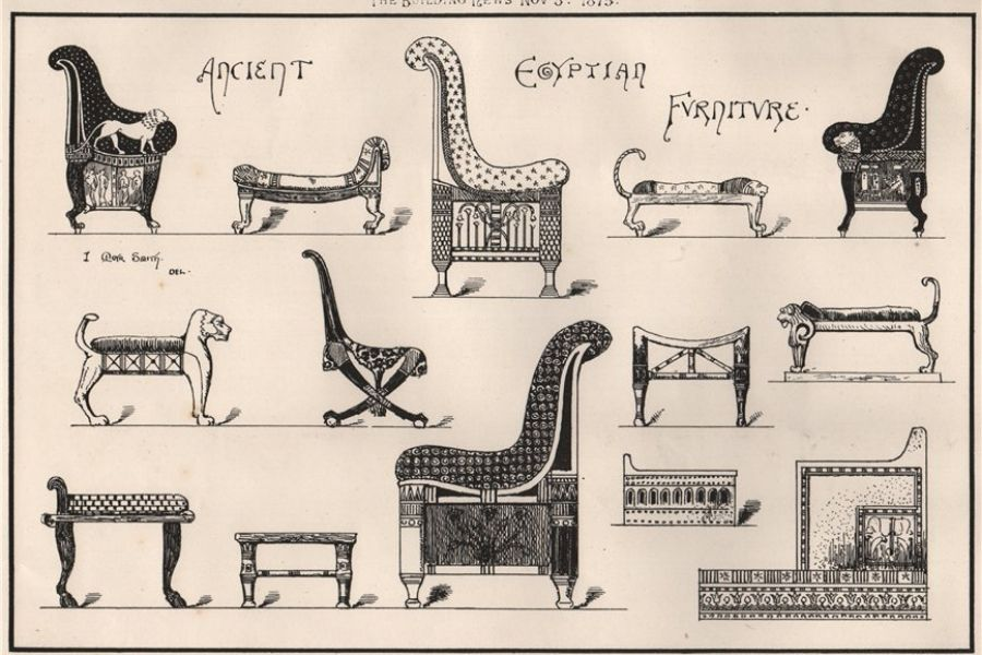 Mẫu ghế sofa thời kỳ Ai Cập cổ đại
