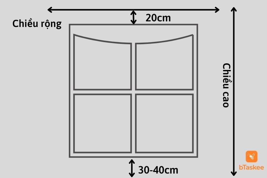 Cách tính diện tích vải may rèm cửa ore