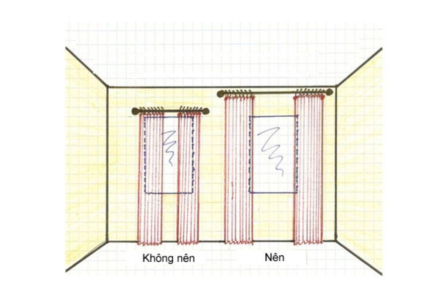 Đo và may rèm cửa ore cân đối phù hợp với khung cửa